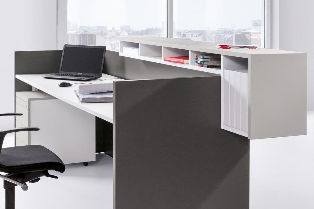 Basic C Reception Desk Modular Panel Based Counter